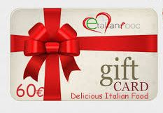 Food Gift Card value 60€