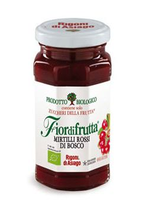 Cranberry Organic Jam Fiordifrutta Rigoni di Asiago250 ml