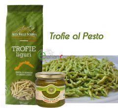 Trofie Artisan with Pesto Sauce (with garlic)